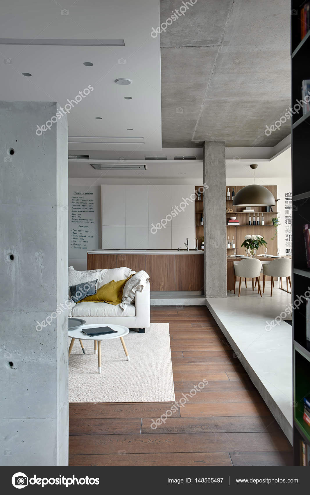 Studio-Apartment im Loft-Stil — Stockfoto © bezikus #148565497
