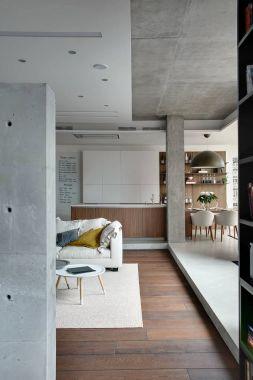 Studio apartment in loft style