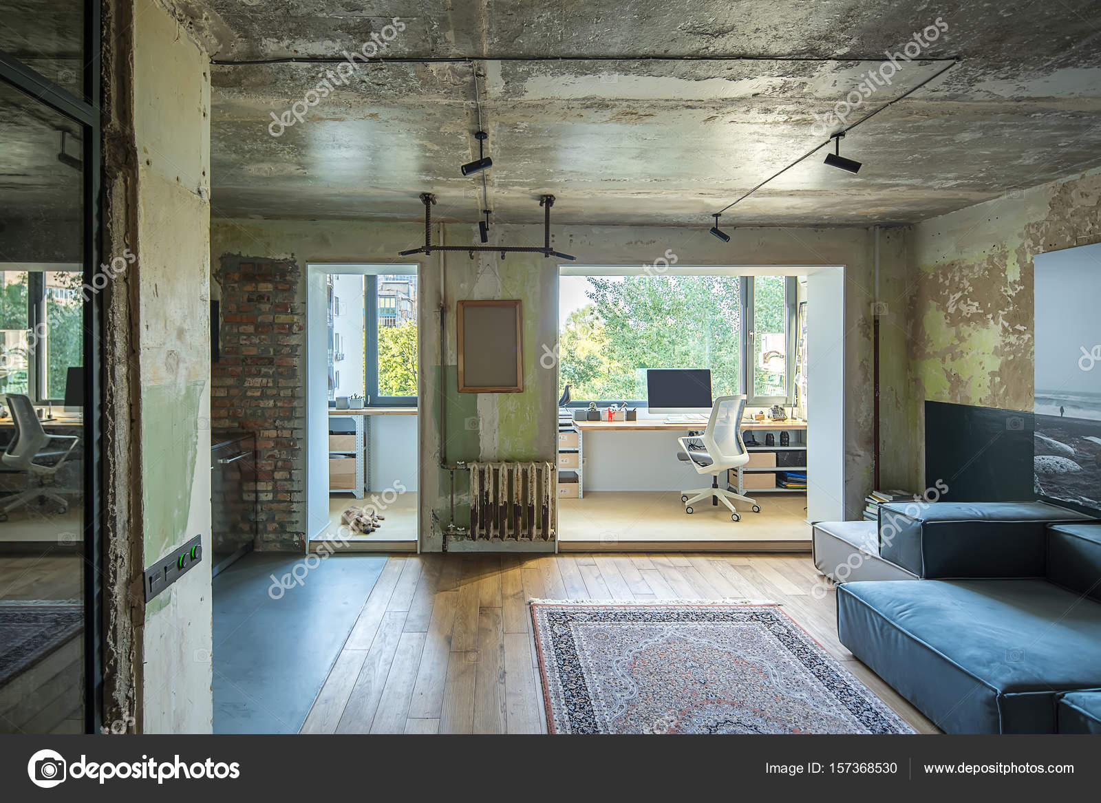 interieur style loft awesome la deco loft new yorkais en images with interieur style loft. Black Bedroom Furniture Sets. Home Design Ideas