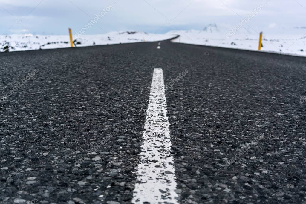 Country roadway in Iceland