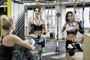 Athletic girls in gym