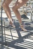 Fényképek Lábak a szabadban a balett-táncosok