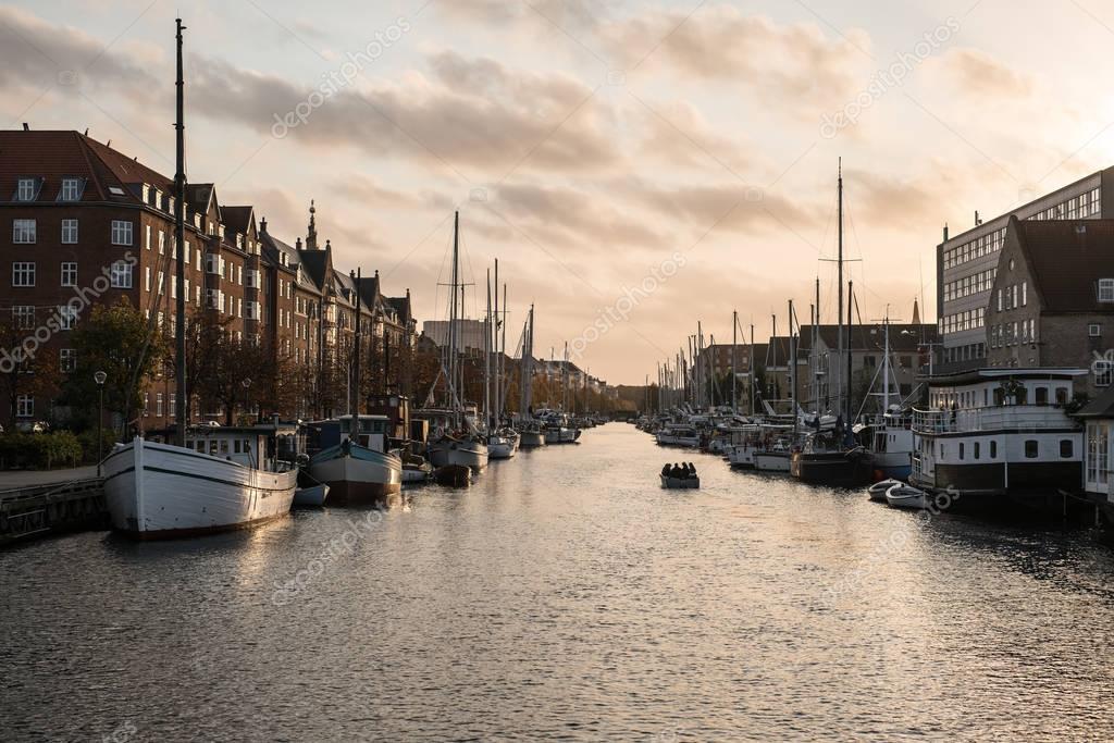 City canal in Copenhagen