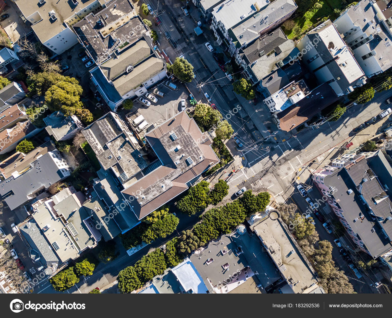 Top View Of Cityscape San Francisco In California USA It Is Sunny Aerial Photo Horizontal By Bezikus