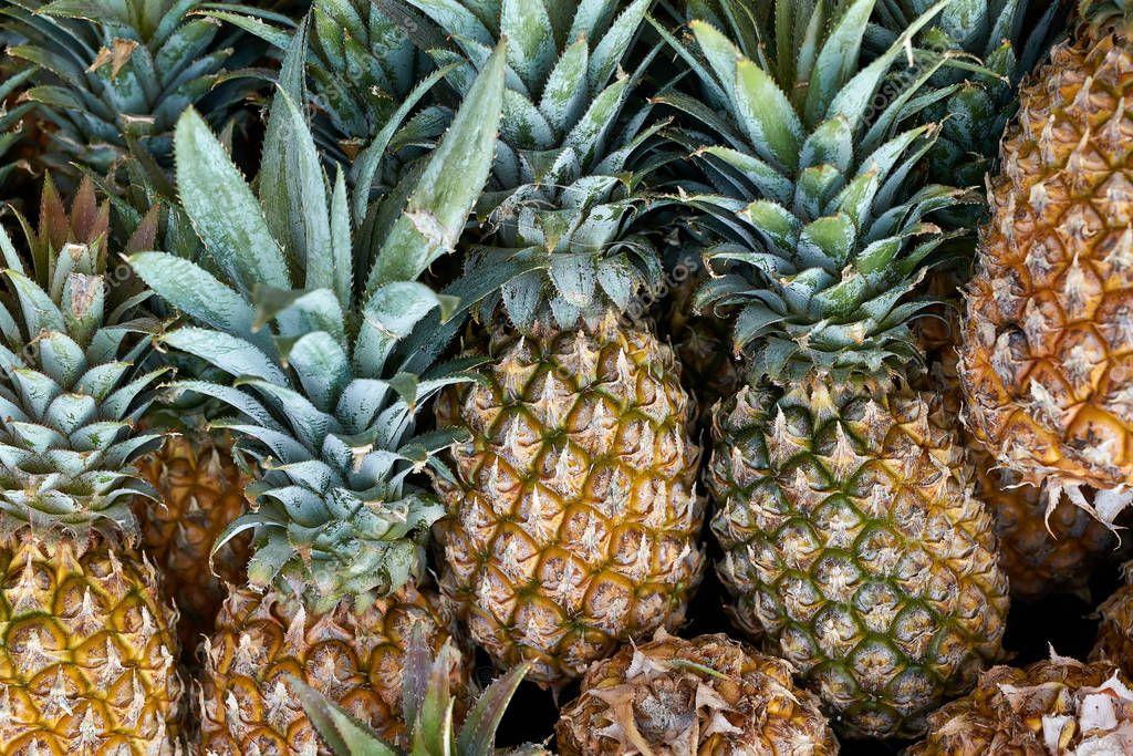 Tasty fresh pineapples