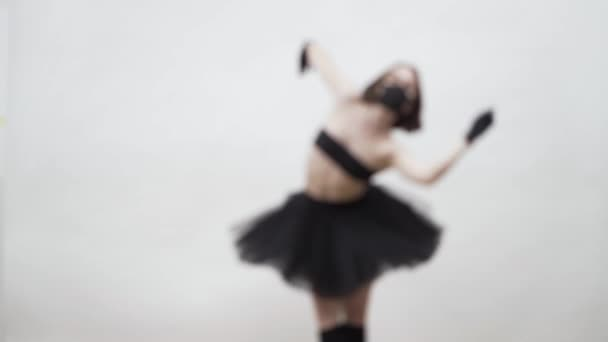 Video recording with blurred person of dancing ballet dancer