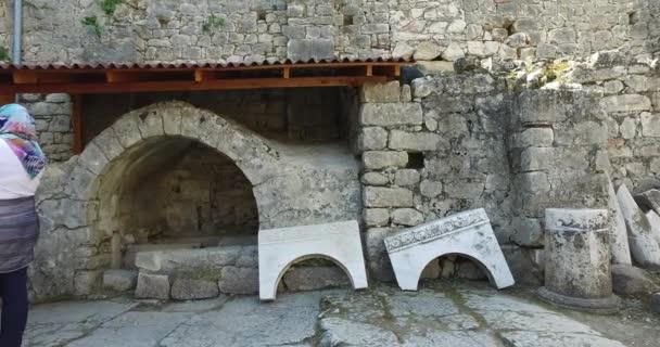 Prvky z kostela architectureplace pohřbu svatého Mikuláše v Demre, Turecko