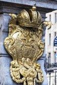 23 AUGUST 2017, VIENNA, AUSTRIA: Architectural elements of the plague column in the center of Vienna in Austria
