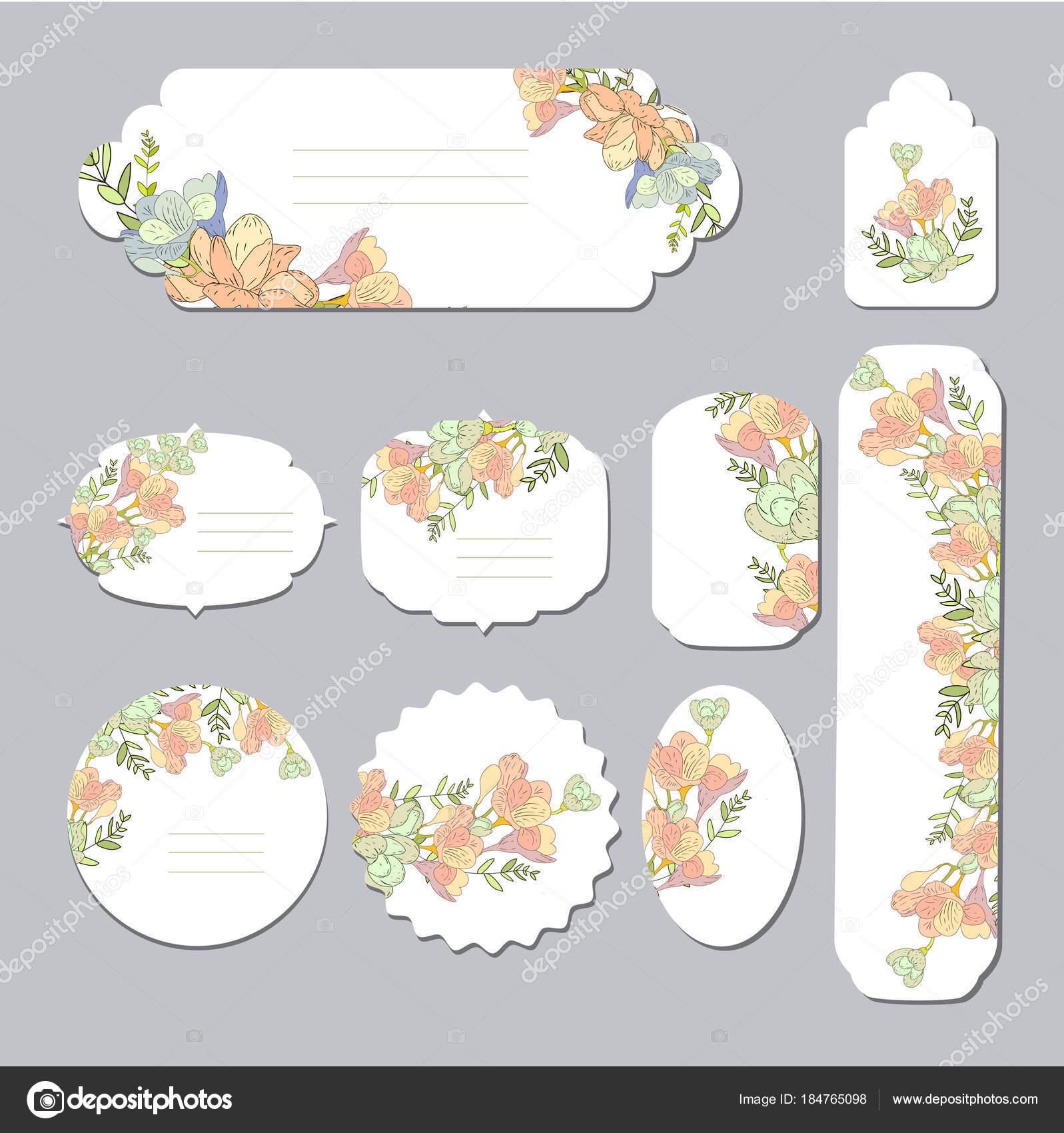 Plantillas de flores de primavera con lindas flores. Para el ...