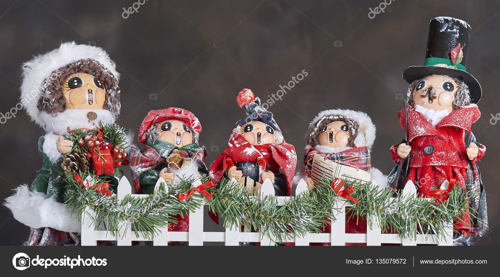 Christmas Carol Singers Decorations.Carol Singers Ornaments Stock Photo C Russellg 135079572