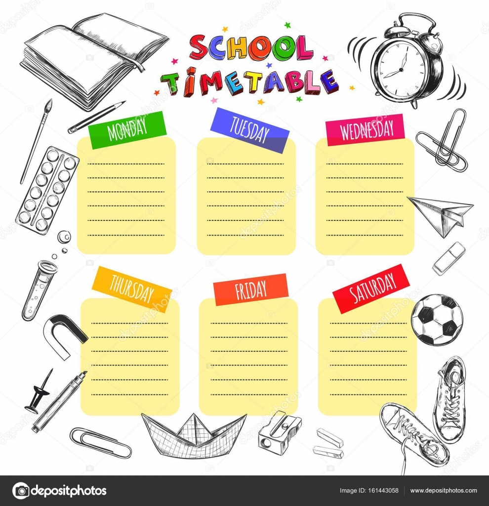 school supply template
