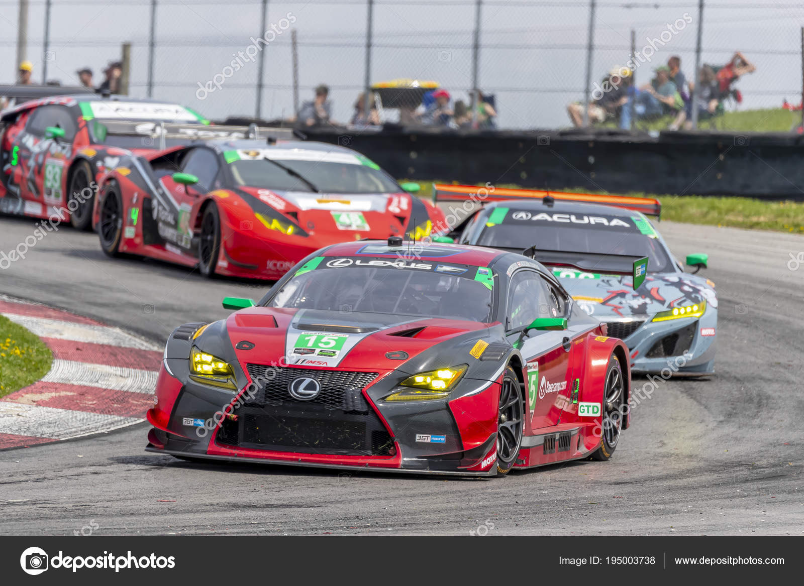 IMSA: May 06 Acura Sports Car Challenge U2014 Stock Photo