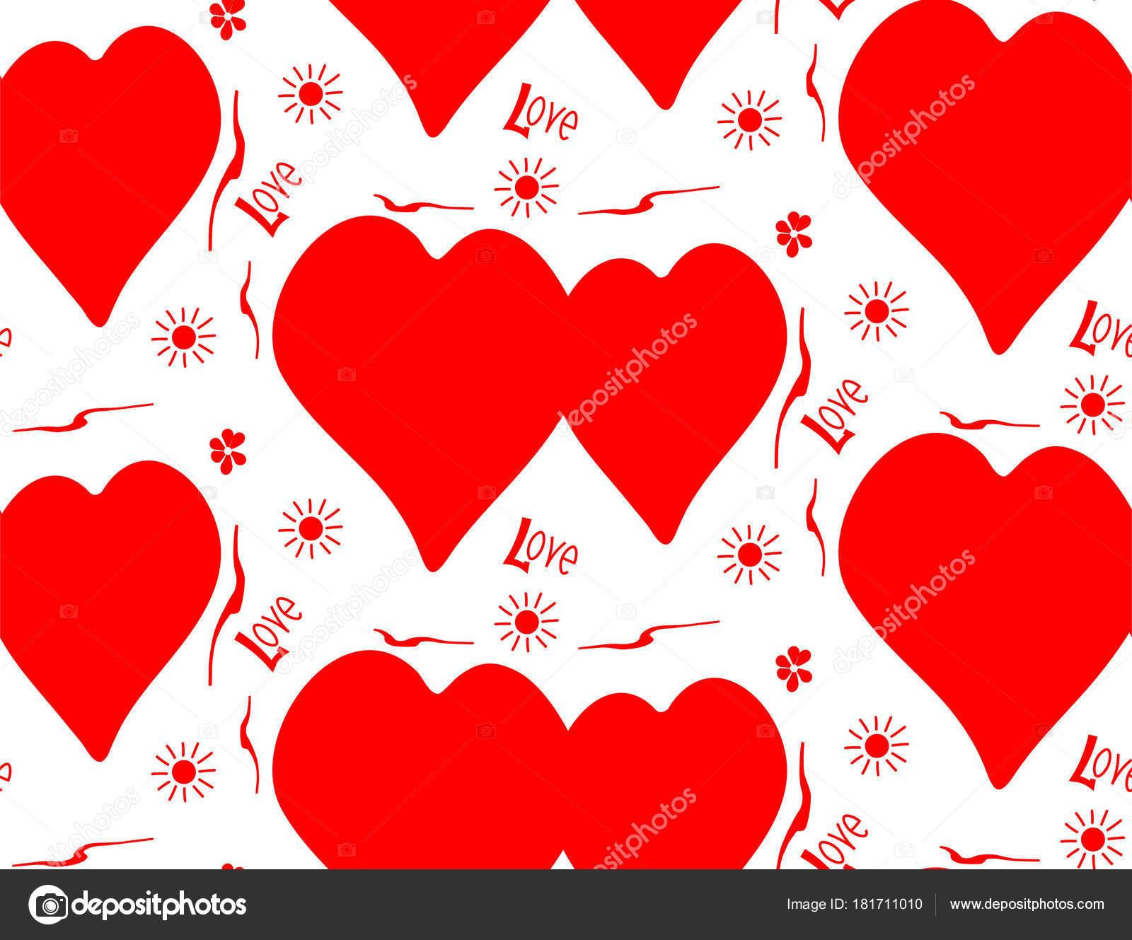 Imágenes Corazones De Color Rojo Tierno Fondo Simple De Color