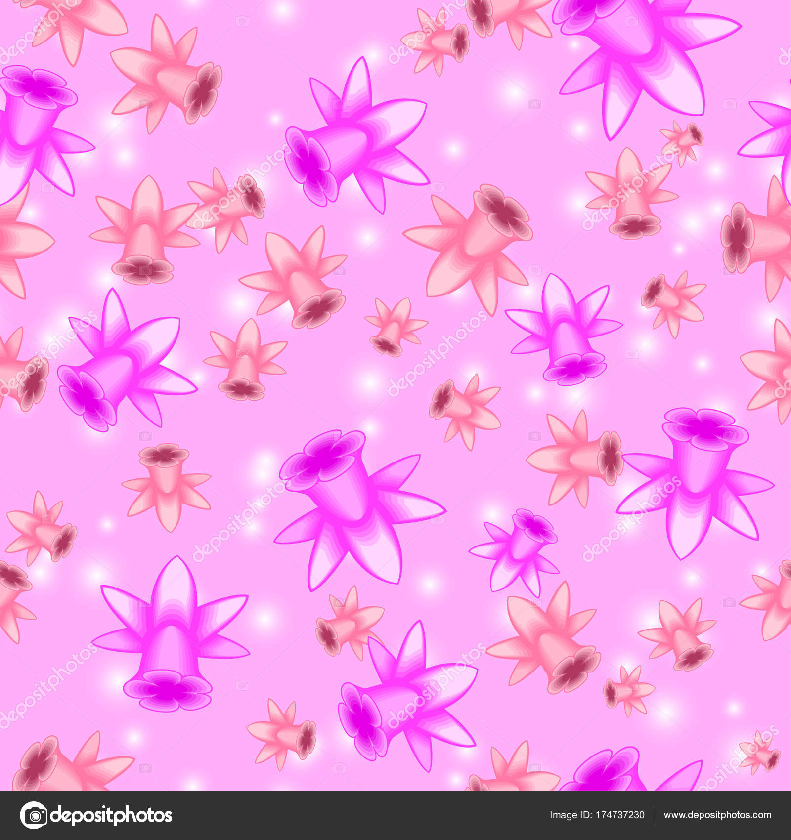 Abstract Floral Seamless Pattern For Background Wallpapers