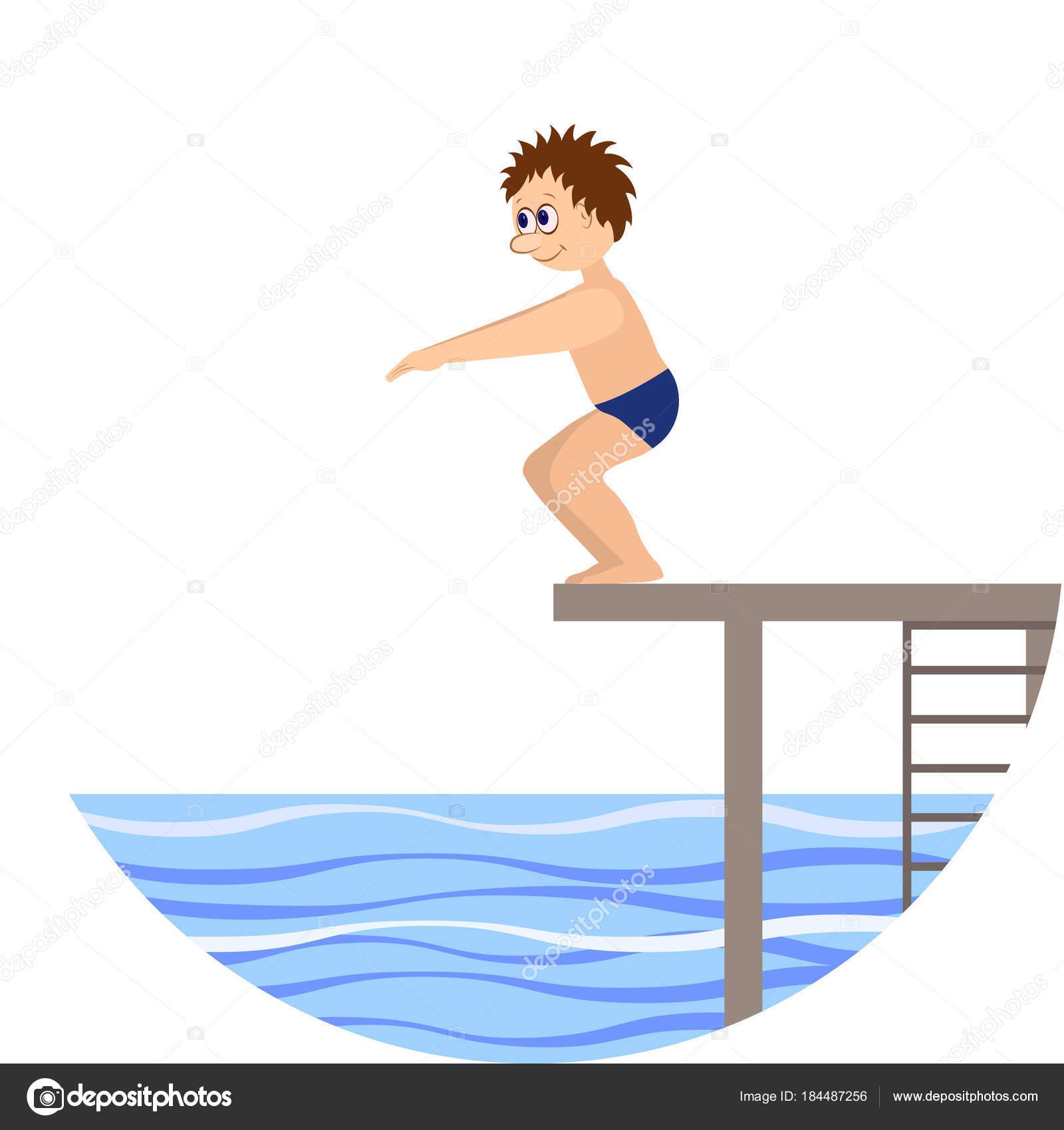 スポーツ水に飛び込みます図 ストックベクター Angelz 184487256