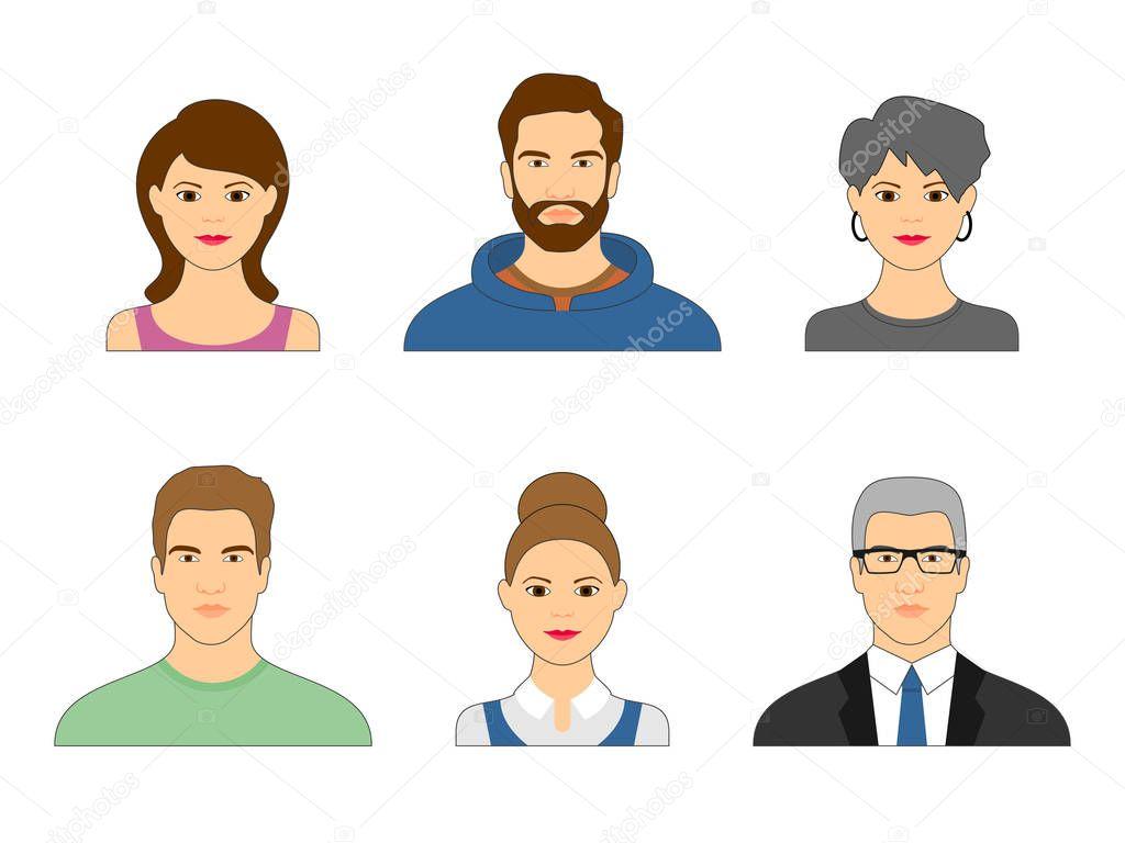 Imágenes: Caras De Hombres Y Mujeres