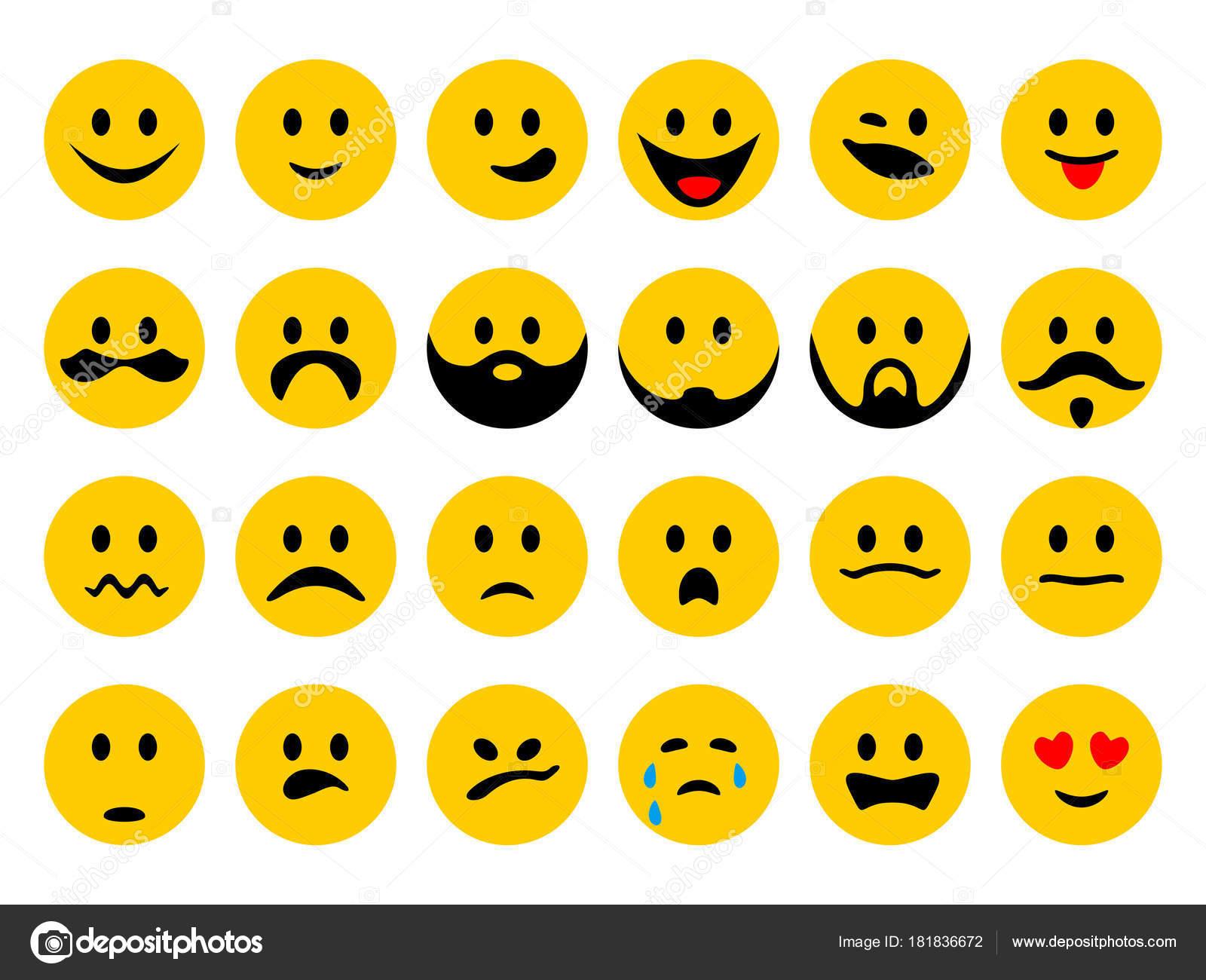 Set smiley emoticons emoji cartoon style isolated white background set smiley emoticons emoji cartoon style isolated white background message stock vector 181836672 biocorpaavc