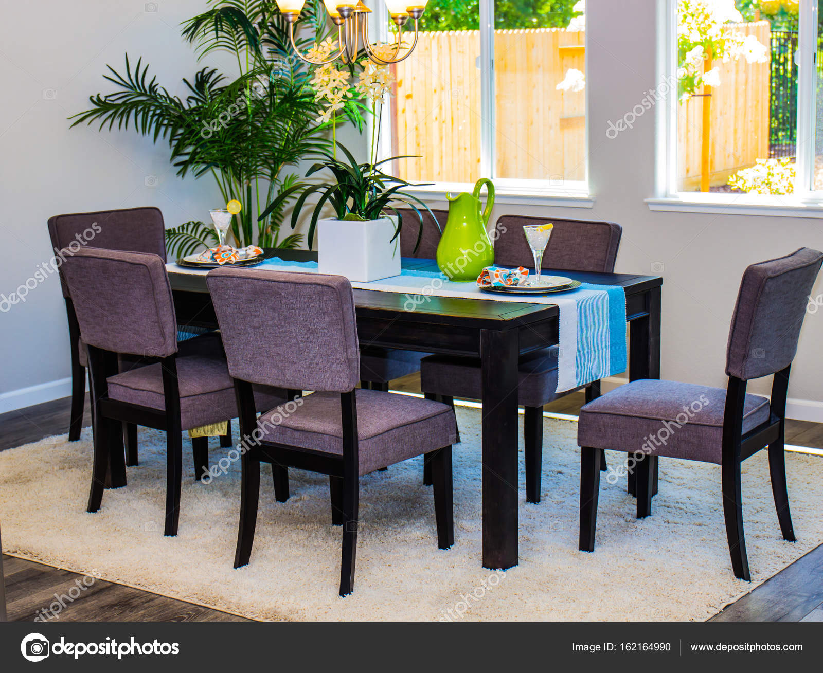 Modern Dining Room Table Chairs Stock Photo C Weezybob5 162164990