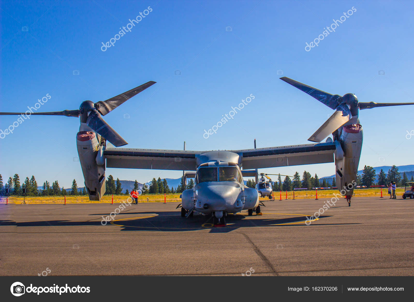 Large Cargo Plane With Both Propellers & Jet Engine – Stock