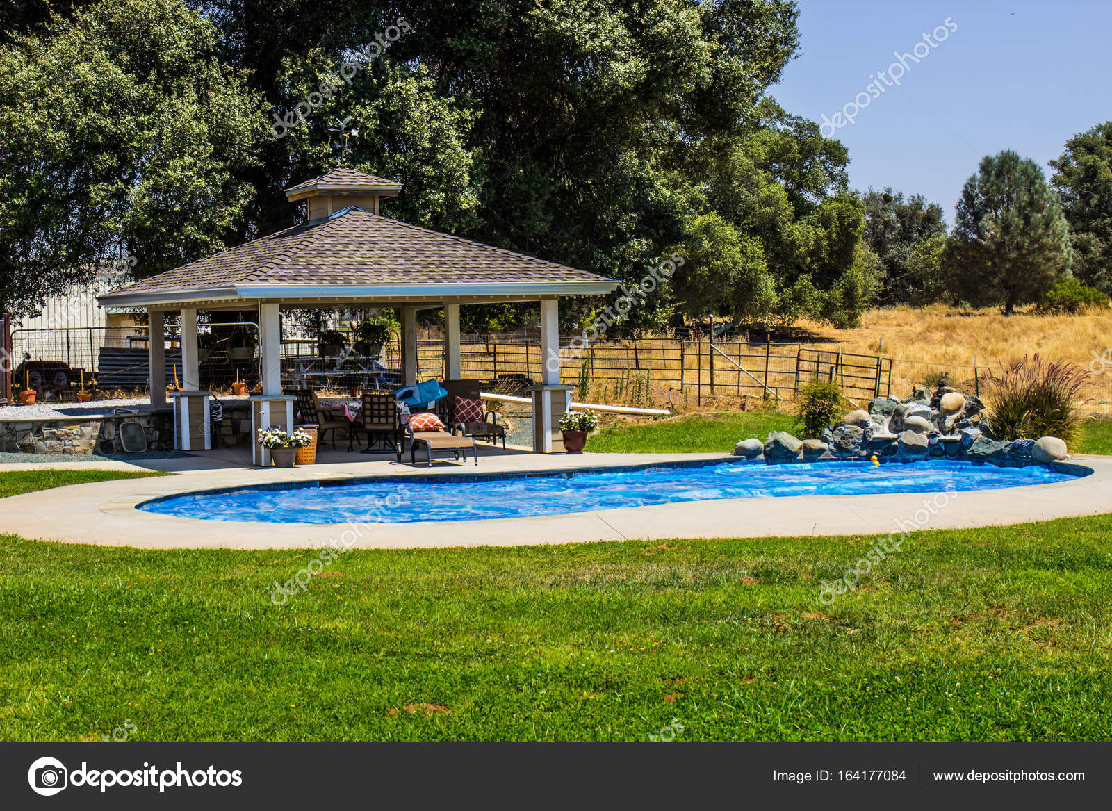 Pictures: pool gazebo | Gazebo & Swimming Pool On Ranch ...