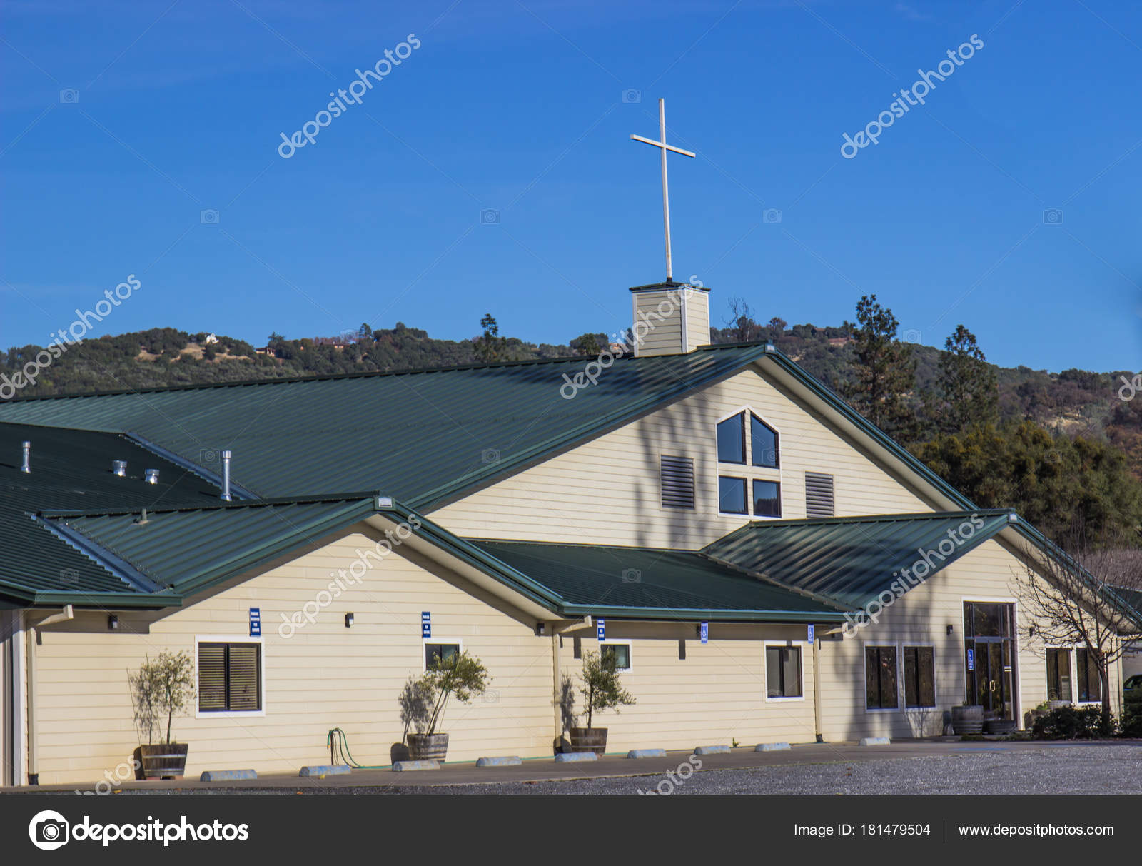 Modern Church Building In Hills — Stock Photo © weezybob5 #181479504