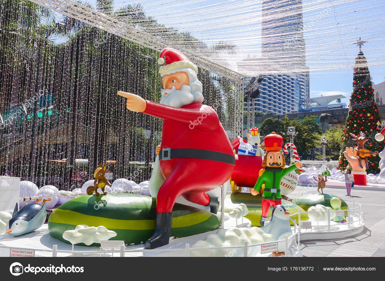 Bangkok Thailand Décembre 2017 Décoration Noël Avec Sapin