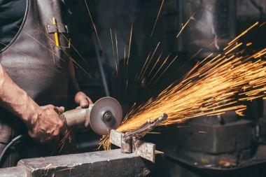 close up Industrial Grinder Metal Grinder