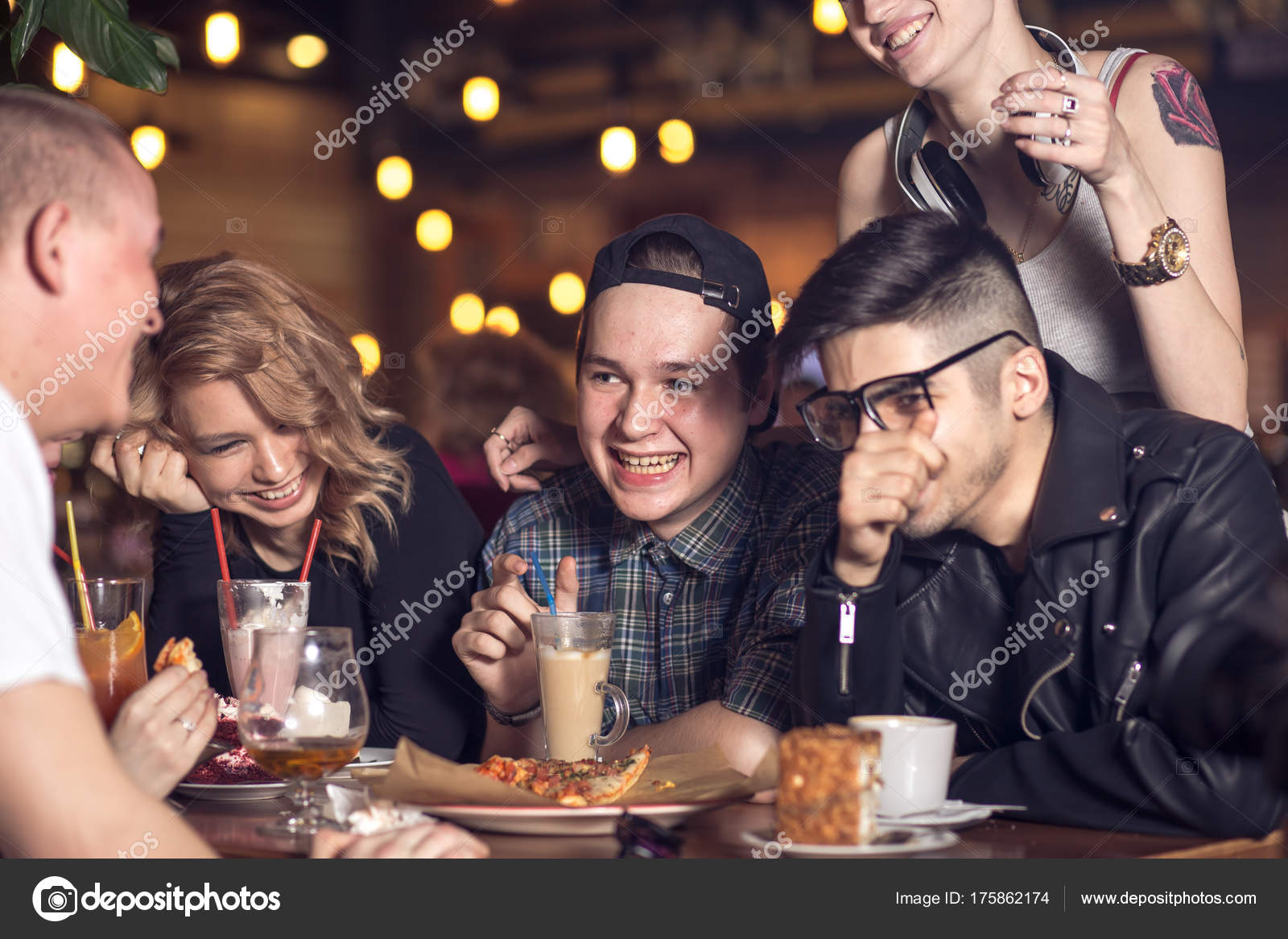 People Drinking Coffee In Cafe Concept Stock Photo C Ufabizphoto 175862174