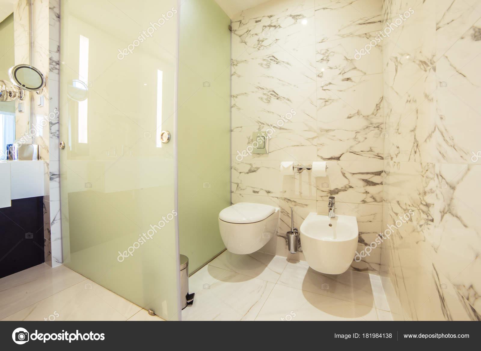 designer bathroom with shower tiling — Stock Photo © ufabizphoto ...