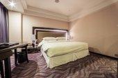 Photo interior design of luxury hotel bedroom