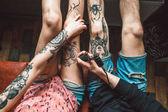 tetování na nohy