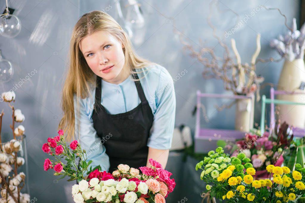 nice florist offer wondeful flowers for people at flowershop