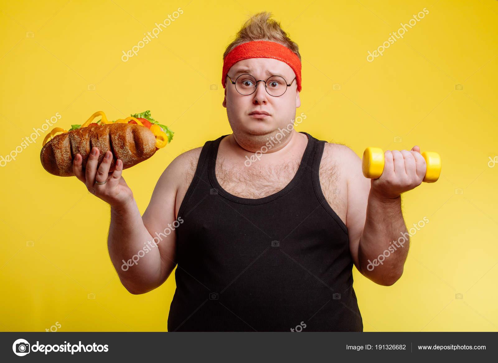 Große dicke Sportler