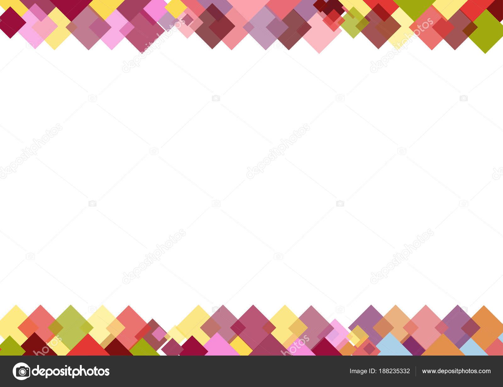 Cenefa Colores Cuadrados Con Lugar Para Texto Sobre Fondo Blanco ...