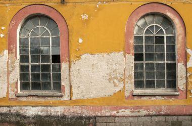Old grunge glass window