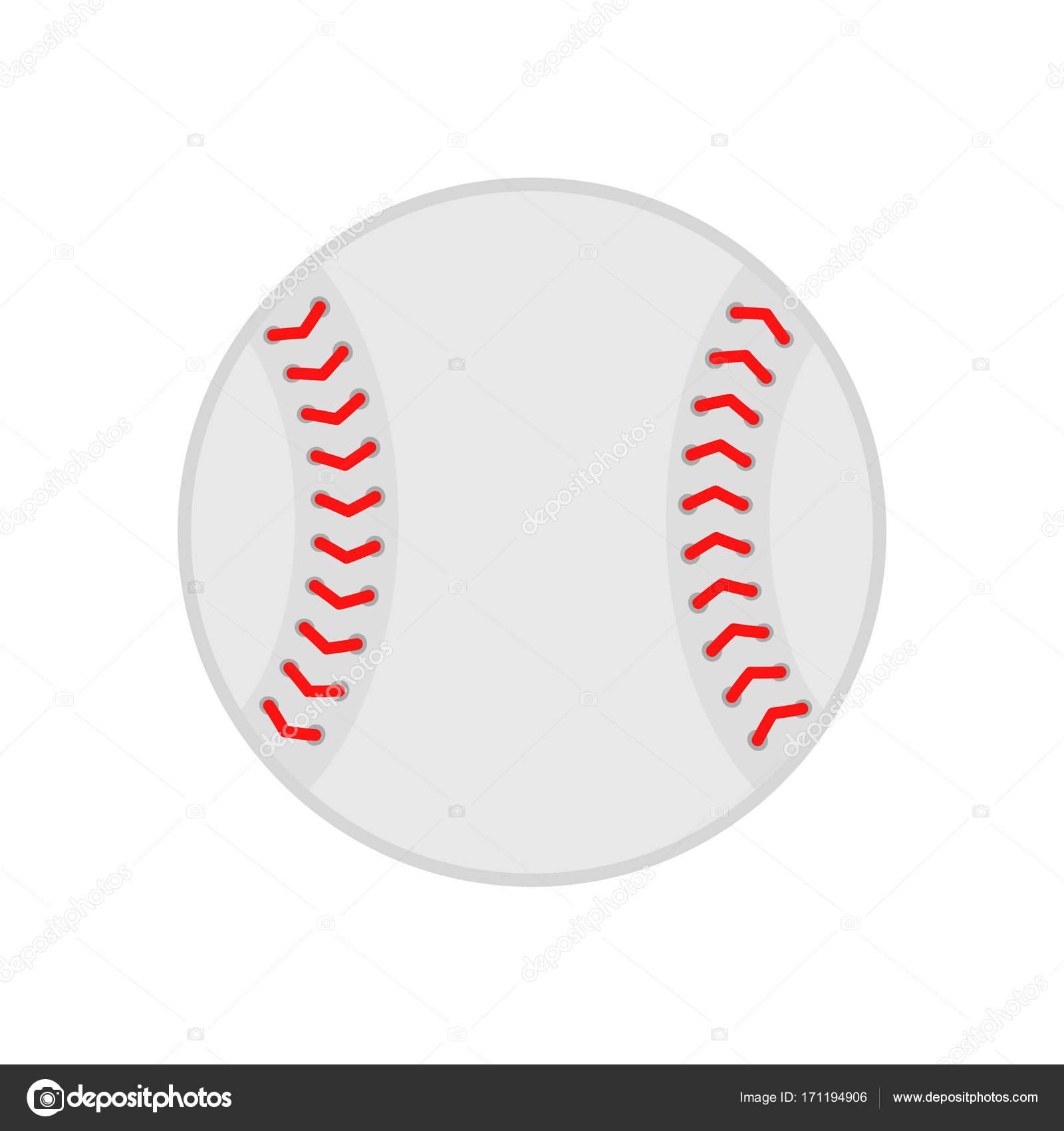 Baseball ball. Softball. Vector silhouette. Vector icon ...