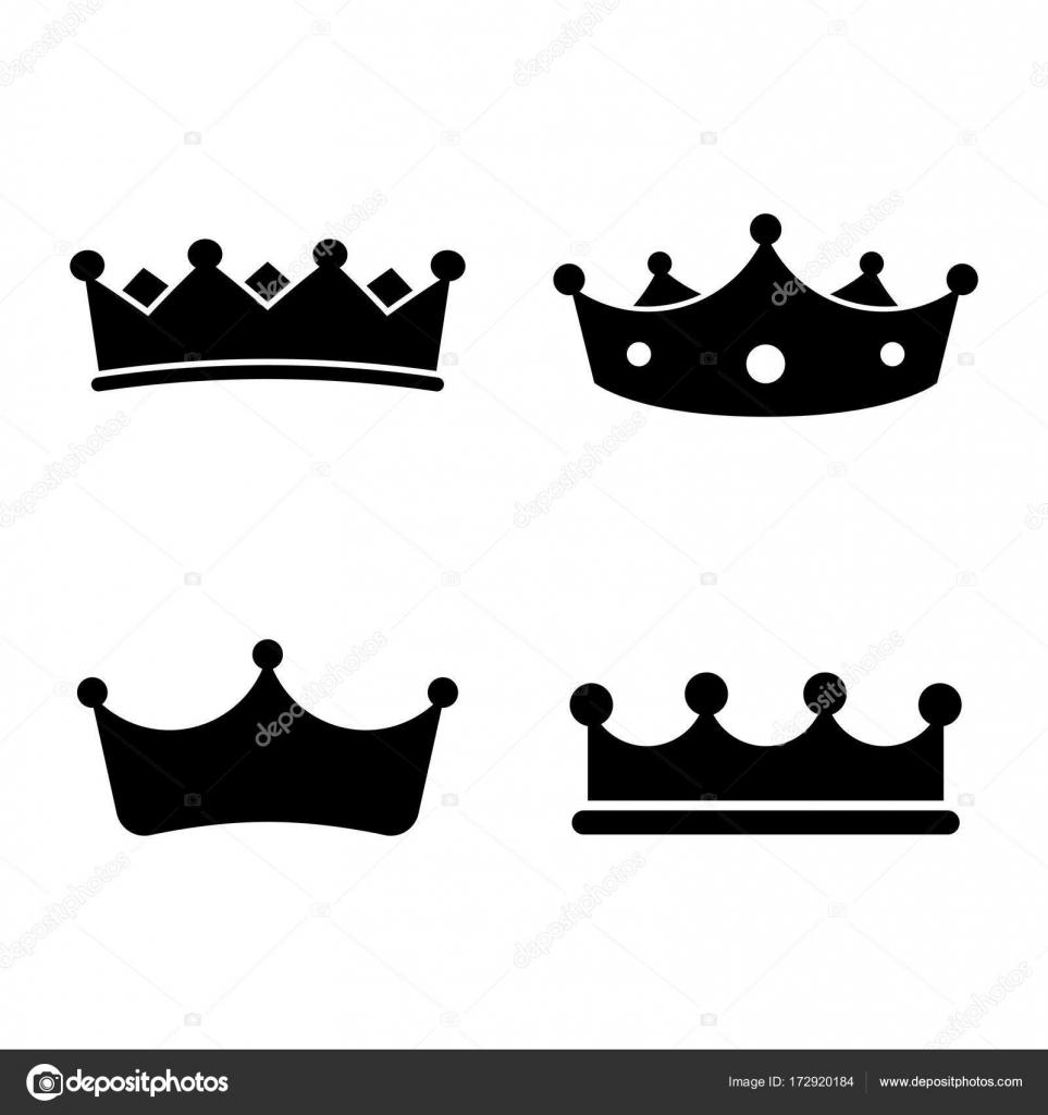 Imágenes Coronas Rey Coronas De Rey Conjunto De Iconos Coronas