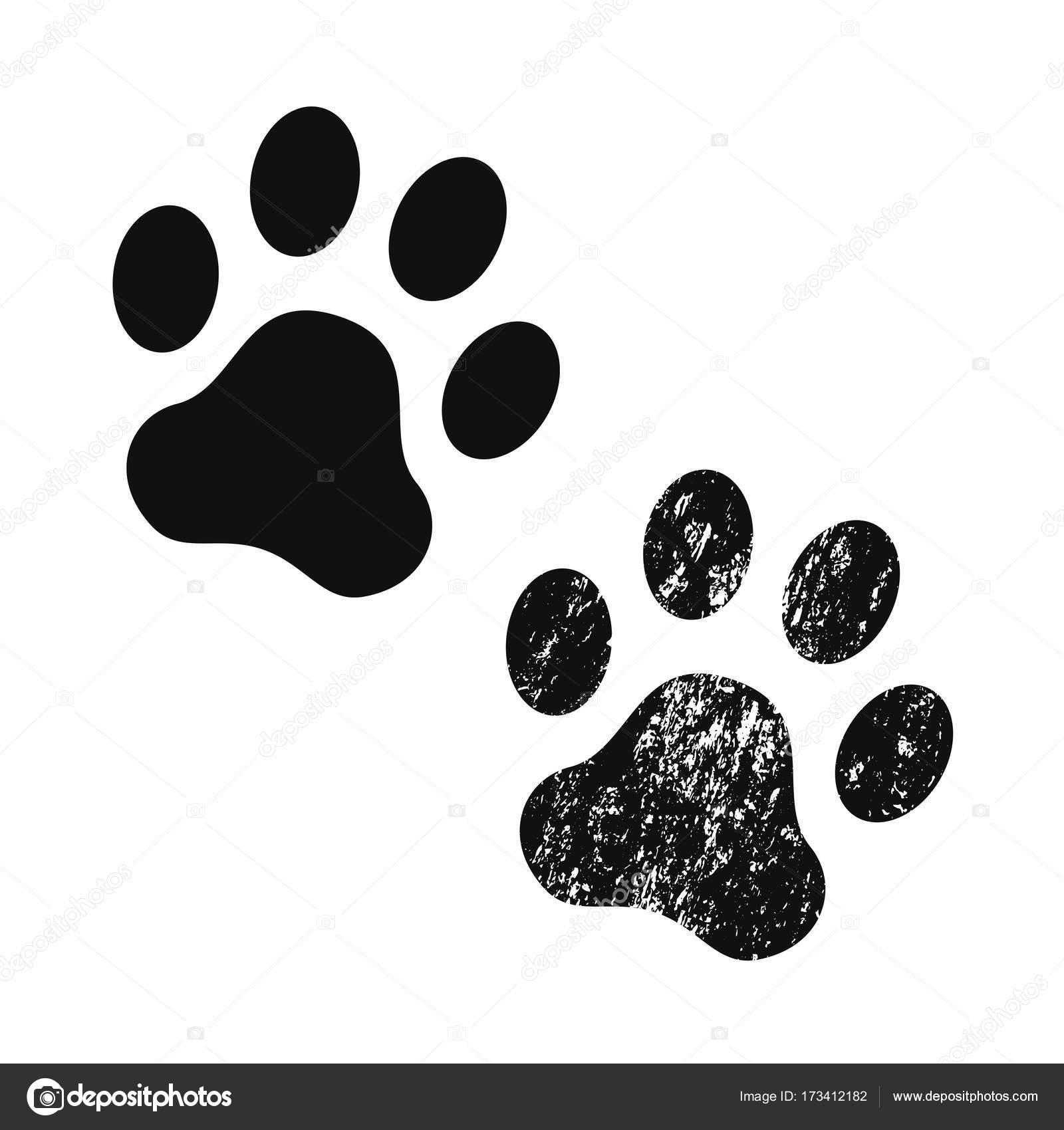 Empreinte Patte De Chien chien empreinte de patte. icône de vecteur — image vectorielle