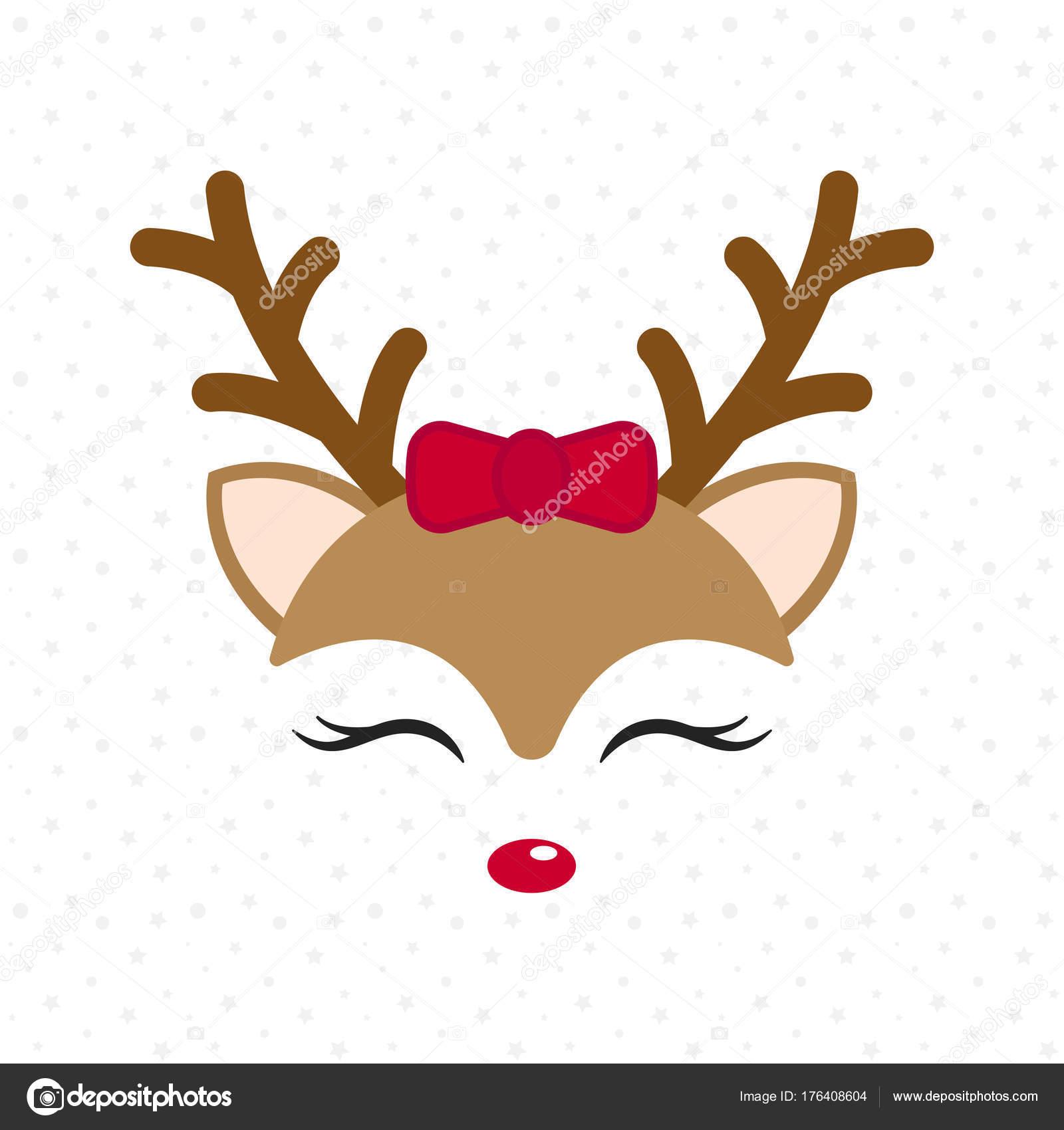 Christmas Cartoon Drawings.Drawings Cute Reindeer Cute Reindeer Baby Deer Merry
