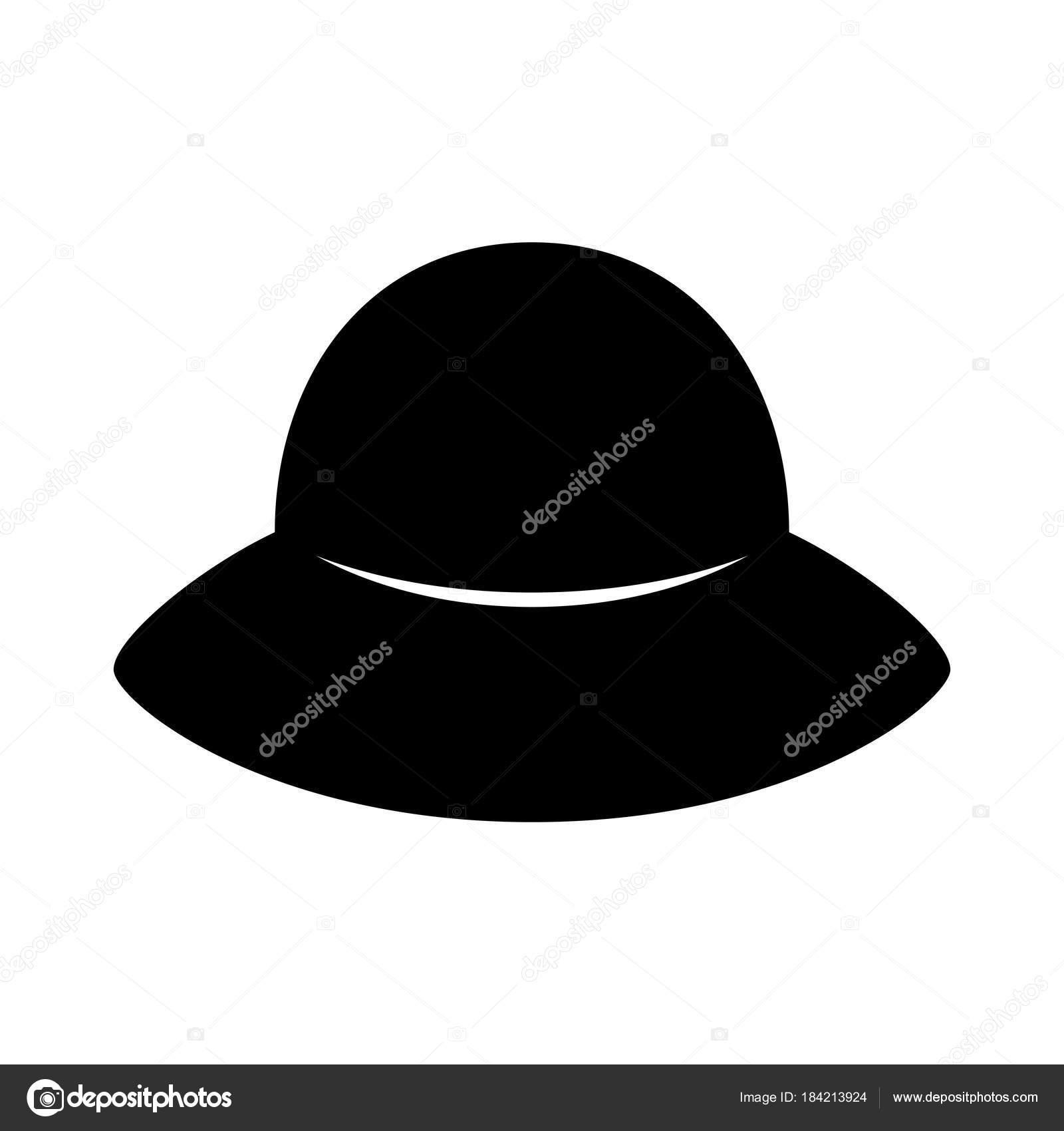 Fashion Hat Women S Black Hat Lady Retro Hat Vector Stock