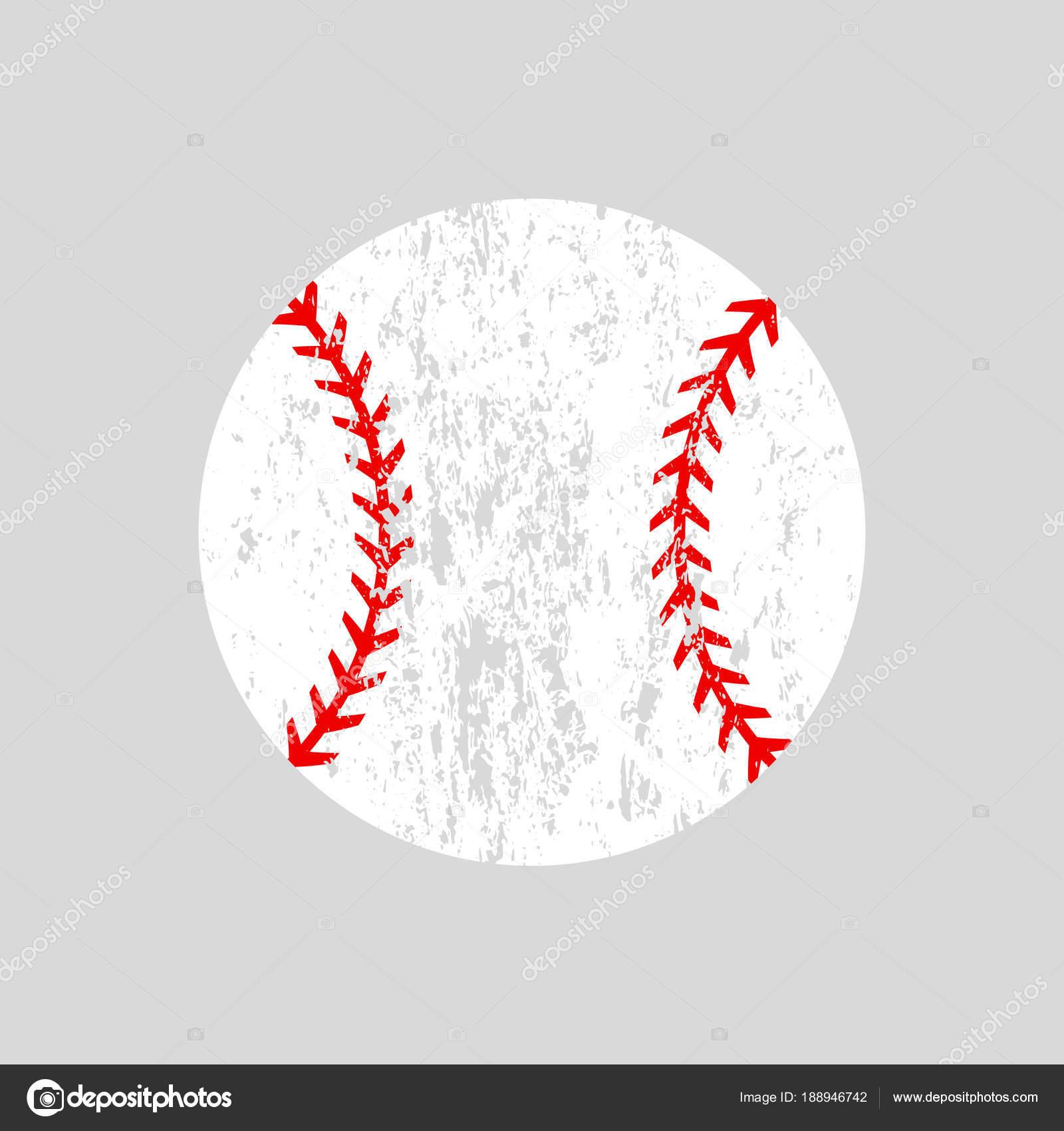 Distressed Baseball Ball. Softball. Vektor-Silhouette. Vektor Icon ...