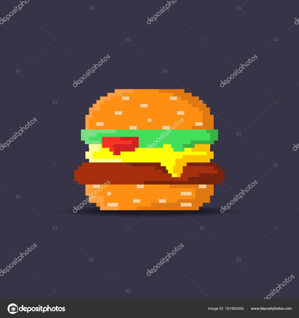 Hamburger Pixel Art Image Vectorielle Hsynff 161904204