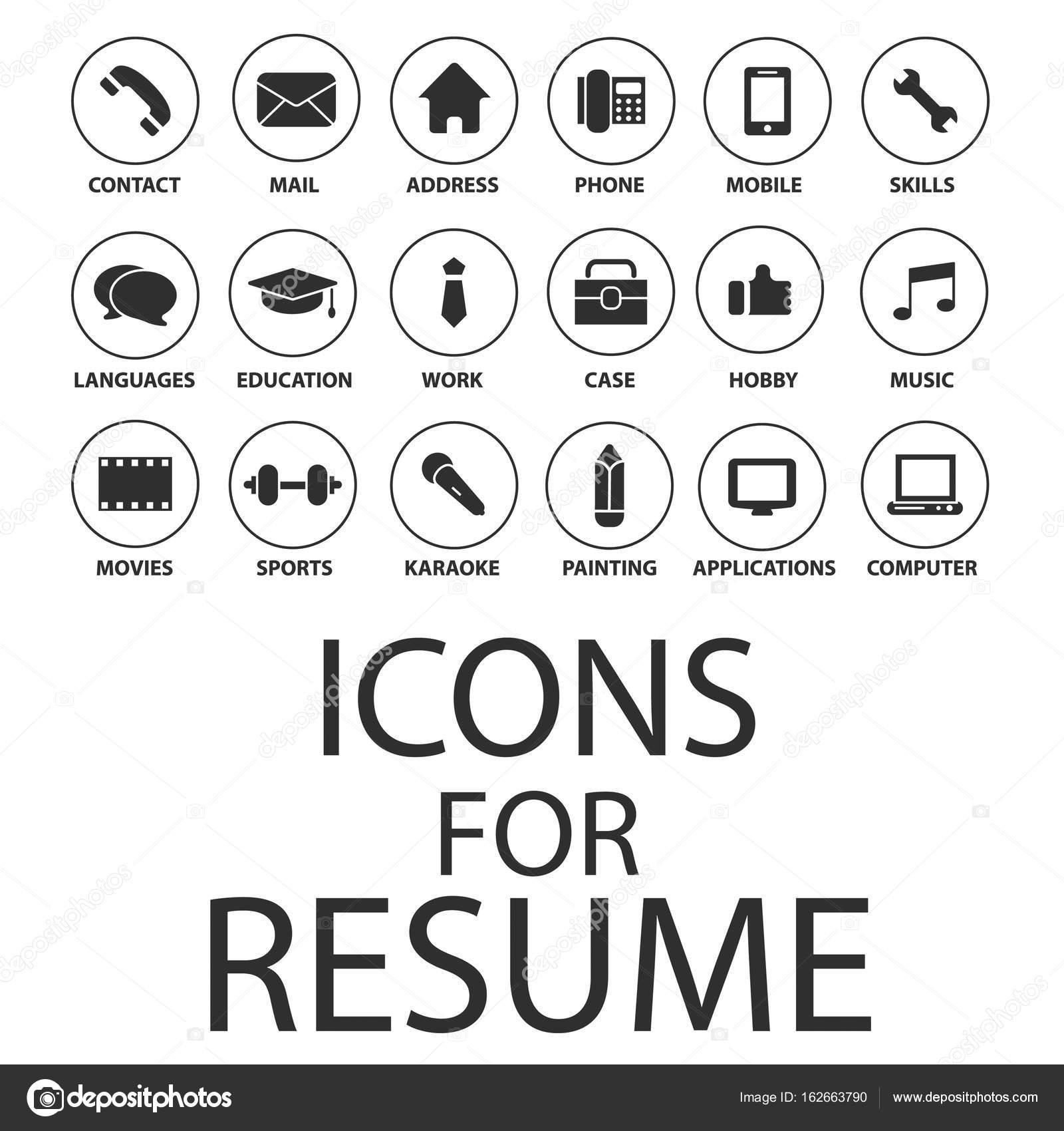 cv resume ikony  u2014 grafika wektorowa  u00a9 hsynff  162663790