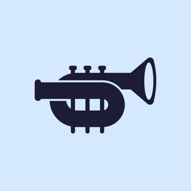 trumpet flat icon