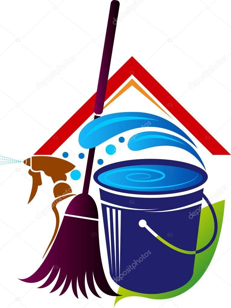 logotipo de limpieza de la casa — Vector de stock © magagraphics ...