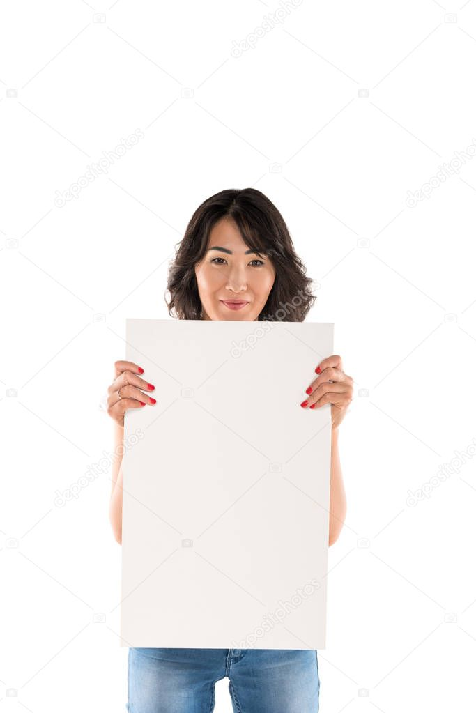 woman with empty board