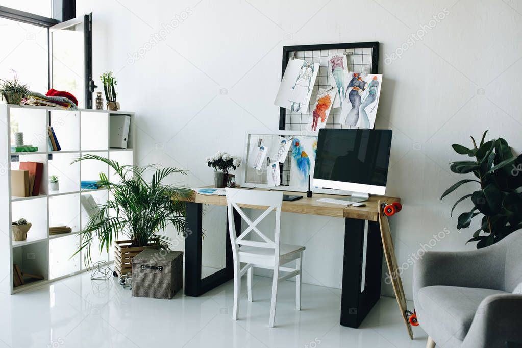 Fashion designer workplace
