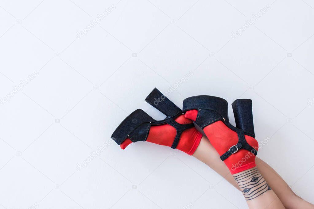 feet in fashionable heels