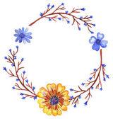 Akvarell koszorú a vadvirágok