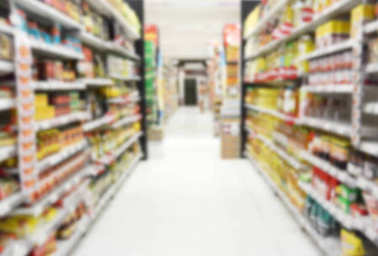 supermarket store with blurry for background